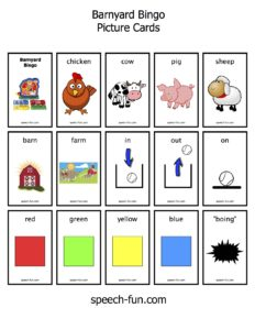 image about Animal Bingo Printable known as Barnyard Bingo